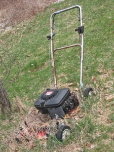 This is what happens to your lawn mower when you start growing food...
